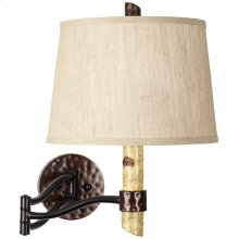 Birch Tree Swing Arm Wall Lamp