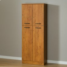 4-Door Storage Pantry - Country Pine