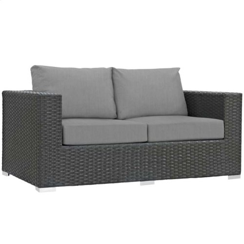 Sojourn Outdoor Patio Sunbrella® Loveseat in Canvas Gray