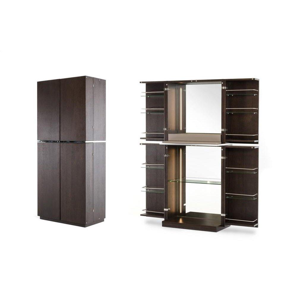 Modrest Franklin Modern Brown Oak Wine Cabinet