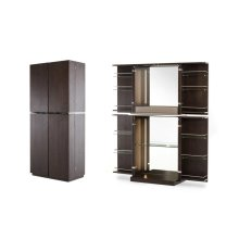 Modrest Franklin Modern Brown Oak Wine Cabinet