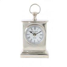 Clock 10x6x17 cm HENDRICKS standing nickel