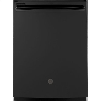 """GE 24"""" Built-In Hidden Control Dishwasher with Tall Tub Black - GDT605PGMBB"""