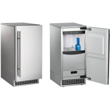 Brilliance ® Nugget Ice Machine Gravity Drain Stainless Steel Front