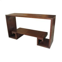 Bamboo Greek Key Console Table