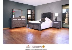 6/6 Upholstered Tufted Headboard w/Solid wood frame