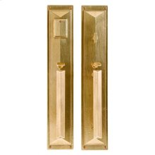 "Mack Entry Set - 3 3/4"" x 20"" White Bronze Dark"
