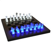 LED Glow Chess Set - Blue / White Product Image