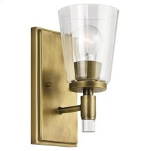 Audrea 1 Light Wall Sconce Natural Brass