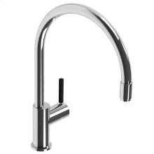 Zu single lever kitchen mixer with pull-out hose