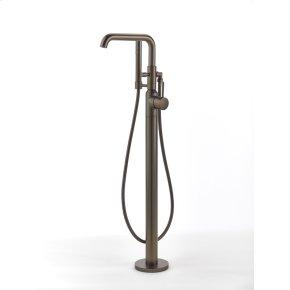 Single Supply Floor Tub Filler Taos Series 17 Bronze