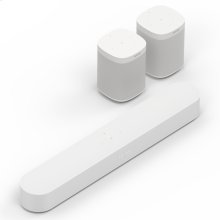 White- Enjoy immersive sound and voice control for music and more, whilst listening in up to two additional rooms.