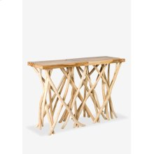 Coral Console in Driftwood Top..