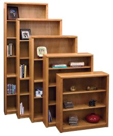 Bookcase w/ 1 fixed, 2 adj shelves