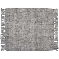 "Throw T1123 Grey 50"" X 60"" Throw Blankets Product Image"