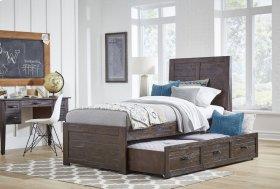 Jackson Lodge Twin Panel Bed With Trundle Unit