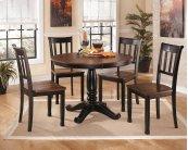 Owingsville - Black/Brown 6 Piece Dining Room Set