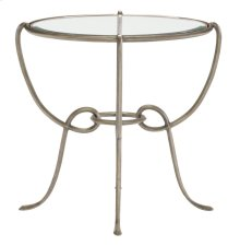 Bonita Round Chairside Table Glass Top and Base