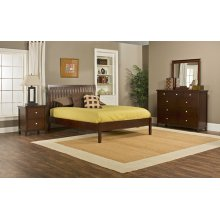 Metro 4pc King Cherry Bedroom with Liza Platform Bed