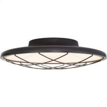 Visual Comfort PB4001MBK Peter Bristol Dot LED 14 inch Matte Black Flush Mount Ceiling Light, Caged
