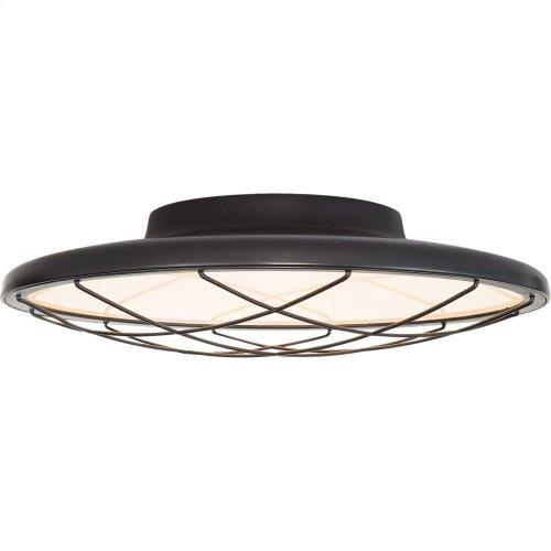 Visual Comfort PB4001MBK Peter Bristol Dot LED 14 inch Matte Black Flush Mount Ceiling Light, Caged