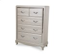 After Eight Studio 5 Drawer Chest Pearl Croc Product Image