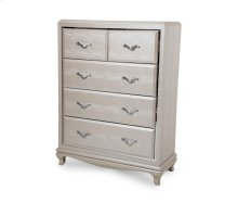 After Eight Studio 5 Drawer Chest Pearl Croc