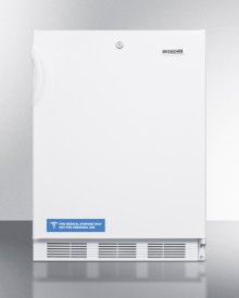 ADA Compliant All-refrigerator for Freestanding General Purpose Use, With Lock, Automatic Defrost Operation and White Exterior