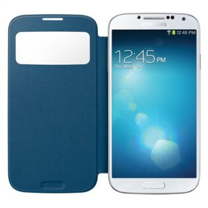 Galaxy S 4 S-View Flip Cover, Pebble Blue