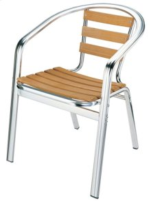 """Chair With Aluminium Frame and Ash Wood Tube: 38""""16""""1.5MM"""