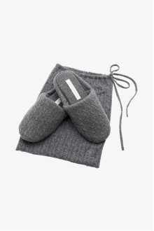 Dolce Cable Cashmere Slippers STYLE: DCSL01