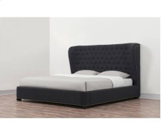 Finley Grey Linen King Upholstered Bed Product Image