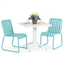 0100 Series 3PC Dining Set Turquoise