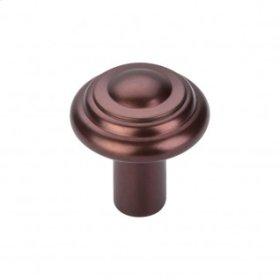 Aspen Button Knob 1 1/4 Inch - Mahogany Bronze