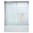 Prestige Framed Sliding Tub Shower Doors - Brushed Nickel Product Image