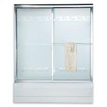 Prestige Framed Sliding Tub Shower Doors - Brushed Nickel