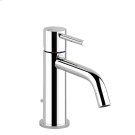 """Basin mixer with 1 1/4"""" pop-up waste and flexible hoses with 3/8"""" connections Product Image"""