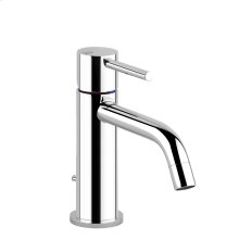 "Basin mixer with 1 1/4"" pop-up waste and flexible hoses with 3/8"" connections"