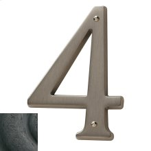 Distressed Oil-Rubbed Bronze House Number - 4