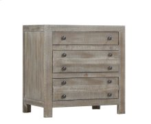3 Drawer Nightstand W/power Plug- Natural Finish