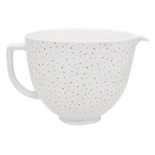 5 Quart Confetti Sprinkle Ceramic Bowl - Other