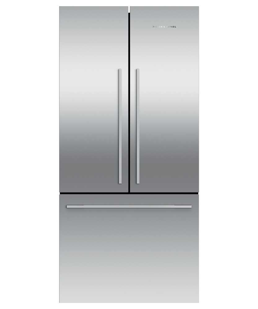 """Fisher & PaykelFreestanding French Door Refrigerator Freezer, 32"""", 16.9 Cu Ft, Ice"""