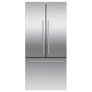 "Fisher & PaykelFreestanding French Door Refrigerator Freezer, 32"", 16.9 cu ft, Ice"