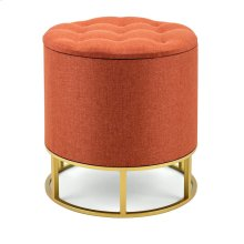 Rylee Orange Ottoman