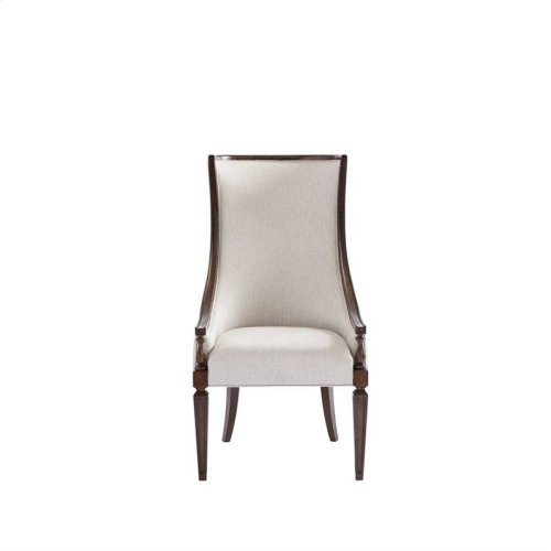 Villa Couture Matteo Host Chair in Mottled Walnut