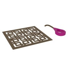 English Bronze Weave Decorative Drain Cover