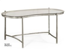 Silver Kidney Desk for Glass Top