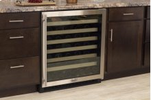"30"" Standard Efficiency Single Zone Wine Cellar (Marvel) - Solid Stainless Steel Door, Left Hinge"