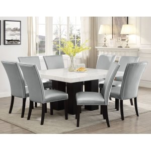Steve Silver Co.Camila Square Marble Top Dining(Mix or Match Chairs)
