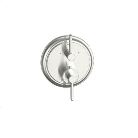 Dual Control Thermostatic with Diverter and Volume Control Valve Trim Wallace (series 15) Satin Nickel